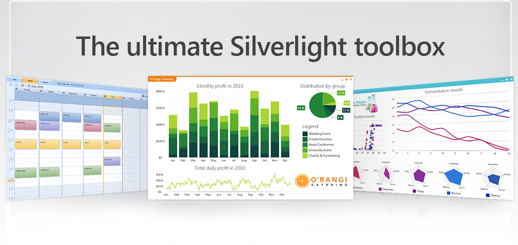 A suite of production-ready Silverlight controls for building stunning apps fast
