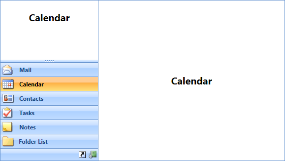 WPF Outlook bar