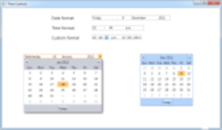 Date and time controls<br />Many convenient ways are included to display dates and times