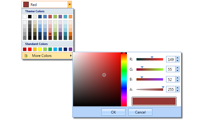 WPF Colour Picker Palettes